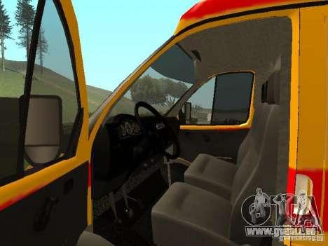 GAZ réanimation 32217 pour GTA San Andreas vue de droite