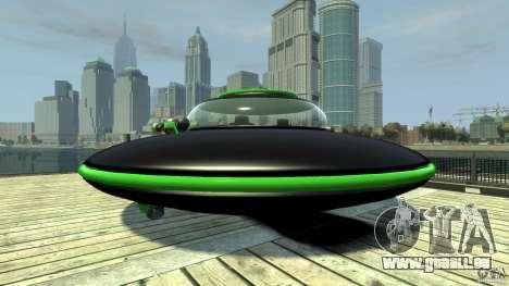 UFO neon ufo green pour GTA 4 Vue arrière de la gauche