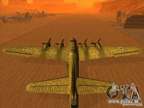 B-17 g Flying Fortress (Nightfighter version) pour GTA San Andreas laissé vue