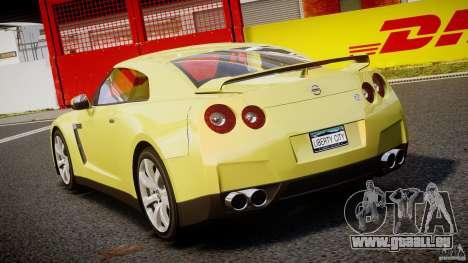 Nissan GT-R R35 2010 v1.3 pour GTA 4 Vue arrière de la gauche