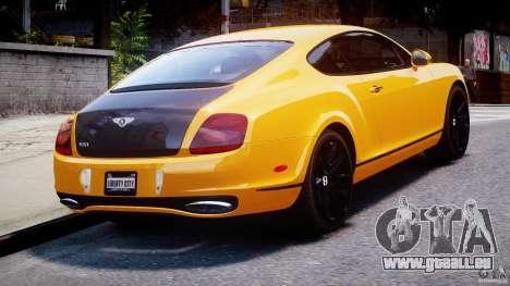 Bentley Continental SS 2010 ASI Gold [EPM] pour GTA 4 Vue arrière de la gauche