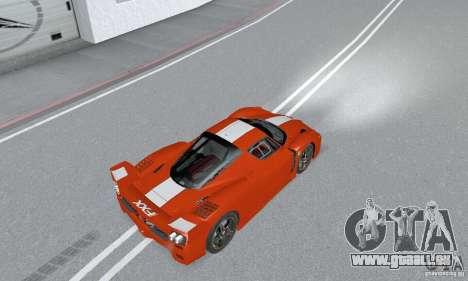 Ferrari FXX pour GTA San Andreas sur la vue arrière gauche