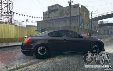 Infiniti G37 Coupe Carbon Edition v1.0 für GTA 4 Rückansicht