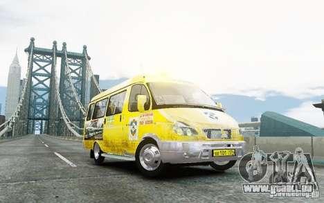Gazelle 2705 Taxi V 2.0 für GTA 4 hinten links Ansicht