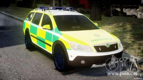 Skoda Octavia Scout Paramedic [ELS] für GTA 4 rechte Ansicht