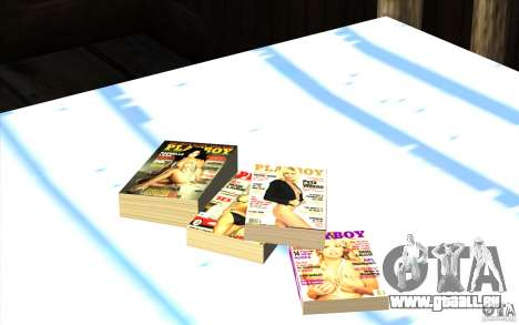 Playboy Magazines pour GTA San Andreas troisième écran