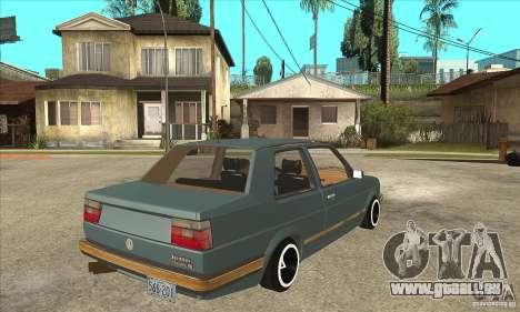 Volkswagen Jetta MKII VR6 pour GTA San Andreas vue de droite