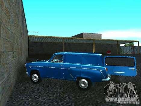 Moskvich 429 pour GTA San Andreas sur la vue arrière gauche