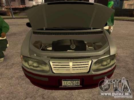 HD Blista pour GTA San Andreas vue de droite