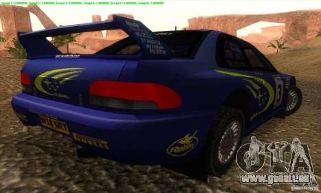 Subaru Impreza 22B pour GTA San Andreas laissé vue