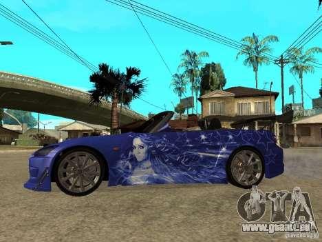 Honda S 2000 pour GTA San Andreas laissé vue