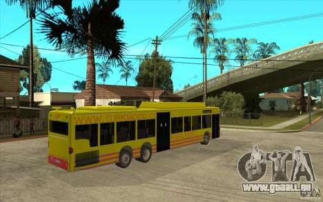 Mercedes Benz Citaro L für GTA San Andreas rechten Ansicht