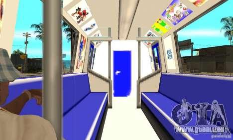 Liberty City Train Sonic pour GTA San Andreas vue de droite
