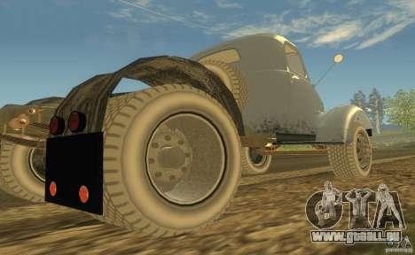ZIL 164 tracteur pour GTA San Andreas vue arrière