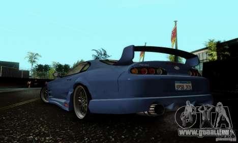 Toyota Supra TRD pour GTA San Andreas sur la vue arrière gauche