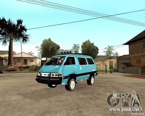 Toyota Town Ace pour GTA San Andreas vue de droite