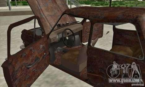ZAZ 968 abandonné c. 2 pour GTA San Andreas vue intérieure