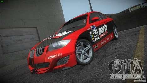 BMW 135i Coupe Road Edition pour GTA San Andreas vue de dessous