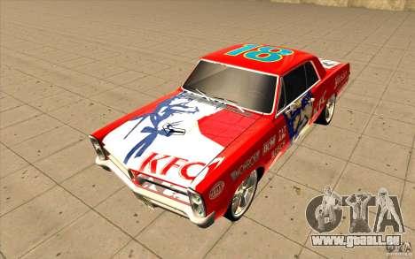 Pontiac GTO 1965 NFS Pro Street nouveaux vinyls pour GTA San Andreas vue de côté