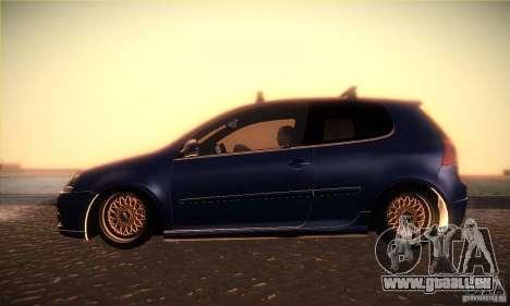 Volkswagen Golf Mk5 GTi pour GTA San Andreas laissé vue