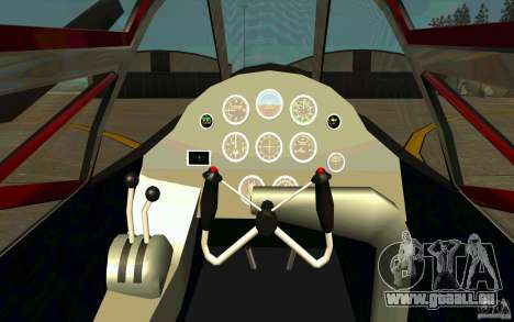 P38 Lightning für GTA San Andreas Rückansicht