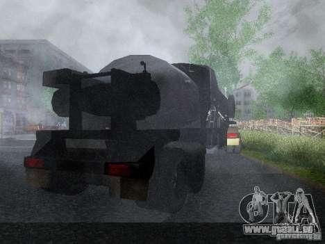 Remorque carburant blindé de Mack camion Titan pour GTA San Andreas vue de droite