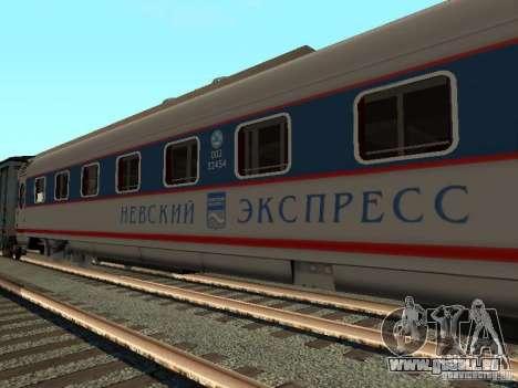 Nevsky express für GTA San Andreas linke Ansicht