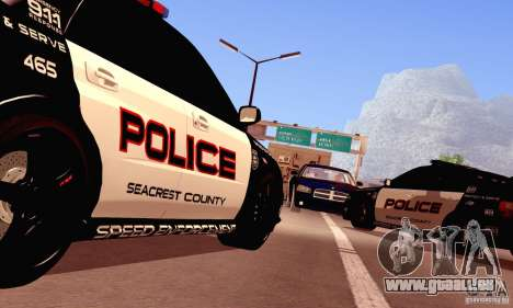 Dodge Charger Fast Five für GTA San Andreas Rückansicht