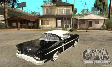 Chevrolet Impala 1958 pour GTA San Andreas vue arrière