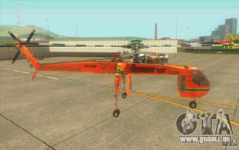 Sikorsky Air-Crane S-64E pour GTA San Andreas laissé vue