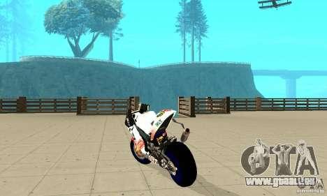 Honda Valentino Rossi Pcj600 für GTA San Andreas zurück linke Ansicht