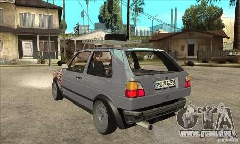 VW Golf Mk2 GTI pour GTA San Andreas sur la vue arrière gauche