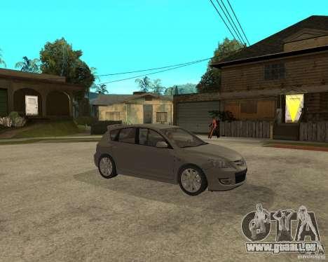 Mazda 3 Sport 2003 pour GTA San Andreas vue de droite