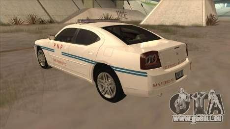Dodge Charger PNP SAN FIERRO pour GTA San Andreas vue de droite
