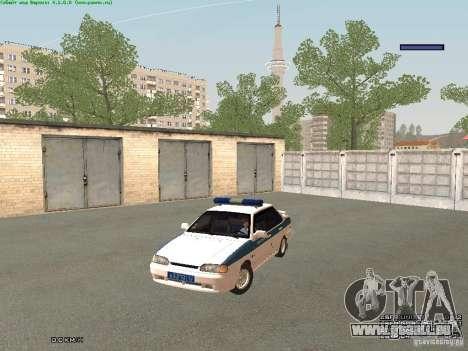 VAZ 2115 PPP Police pour GTA San Andreas laissé vue