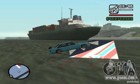 Le tremplin pour GTA San Andreas deuxième écran