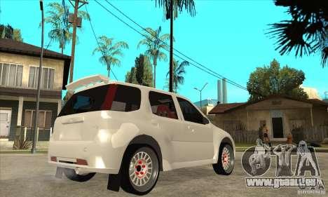 Suzuki Ignis Rally pour GTA San Andreas vue de droite