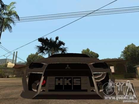 Mitsubishi Lancer Evolution X Drift Spec für GTA San Andreas rechten Ansicht