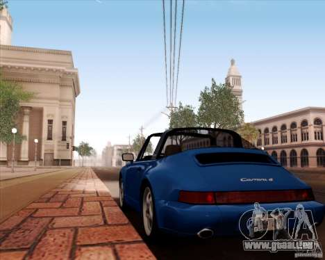 Porsche 911 Carrera 4 Targa (964) 1989 pour GTA San Andreas vue de dessus