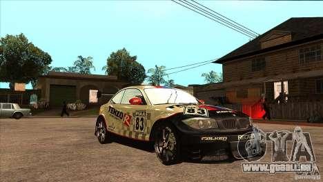 BMW 135i Coupe GP Edition Skin 1 pour GTA San Andreas vue arrière