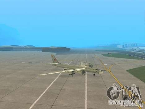 Tu-95 für GTA San Andreas linke Ansicht