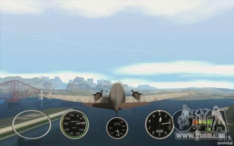 Instruments de l'air dans un avion pour GTA San Andreas deuxième écran