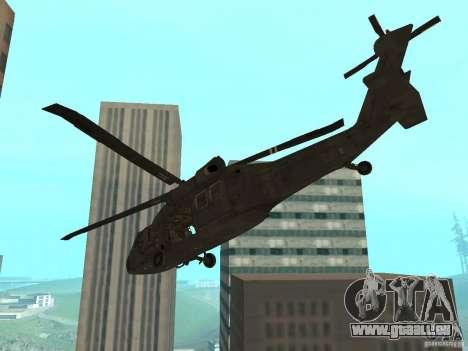 UH-60 Black Hawk pour GTA San Andreas laissé vue