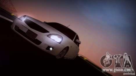 LADA 2170 Californie pour GTA San Andreas vue arrière