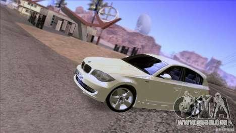 BMW 120i 2009 für GTA San Andreas Innenansicht
