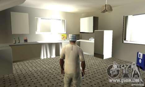 Maisons neuves à coffre intérieurs pour GTA San Andreas cinquième écran