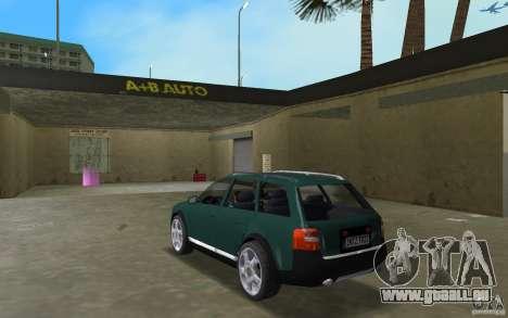 Audi Allroad Quattro pour GTA Vice City sur la vue arrière gauche