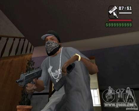 Micro UZI pour GTA San Andreas deuxième écran