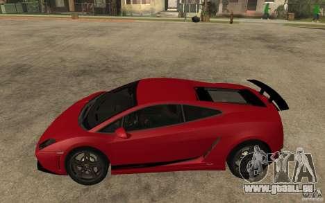 Lamborghini Gallardo LP 570 4 Superleggera pour GTA San Andreas laissé vue