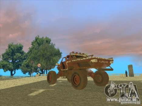 Jeep from Red Faction Guerrilla pour GTA San Andreas laissé vue